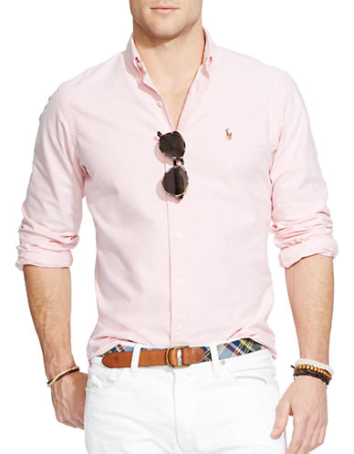 Polo Ralph Lauren Relaxed Fit Oxford Shirt-PINK-Large