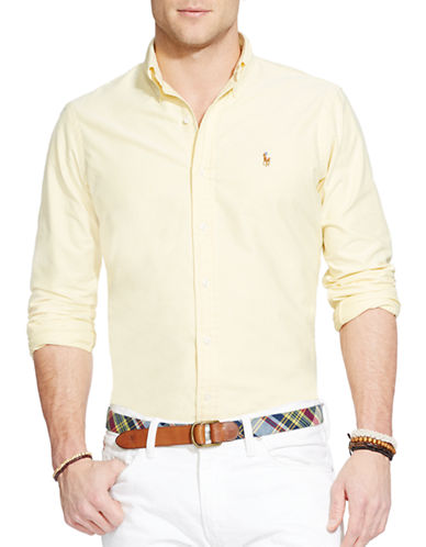 Polo Ralph Lauren Relaxed Fit Oxford Shirt-YELLOW-Large