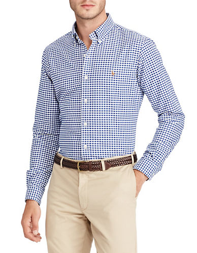 Polo Ralph Lauren Check Oxford Shirt-BLUE-Medium