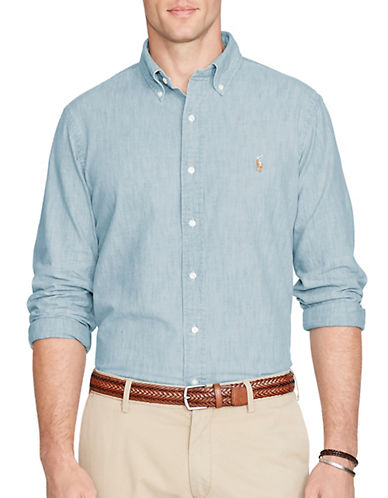 Polo Ralph Lauren Classic Fit Chambray Shirt-CHAMBRAY-Large