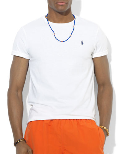 Polo Ralph Lauren Custom Fit Jersey Crewneck-WHITE-Large 87344450_WHITE_Large