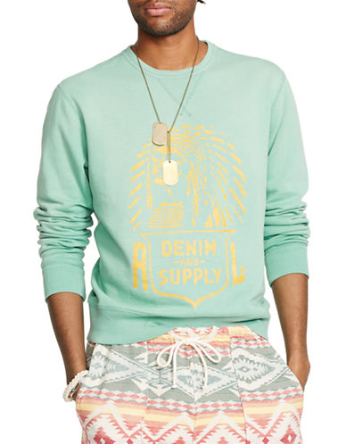 Denim & Supply Ralph Lauren Cotton Graphic Sweatshirt-GREEN-X-Large 87512528_GREEN_X-Large