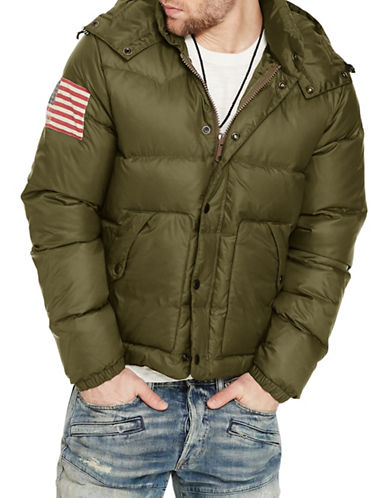 Denim & Supply Ralph Lauren Quilted Ripstop Down Jacket-GREEN-Large 88508795_GREEN_Large