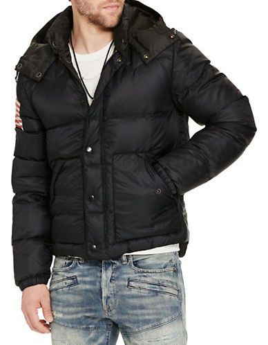 Denim & Supply Ralph Lauren Quilted Ripstop Down Jacket-BLACK-Small 88508802_BLACK_Small