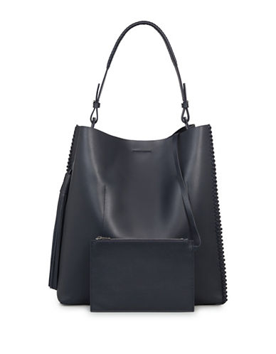 Allsaints Pearl Leather Hobo-BLACK BLUE-One Size
