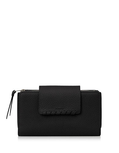 Allsaints Kita Leather Wallet-BLACK-One Size