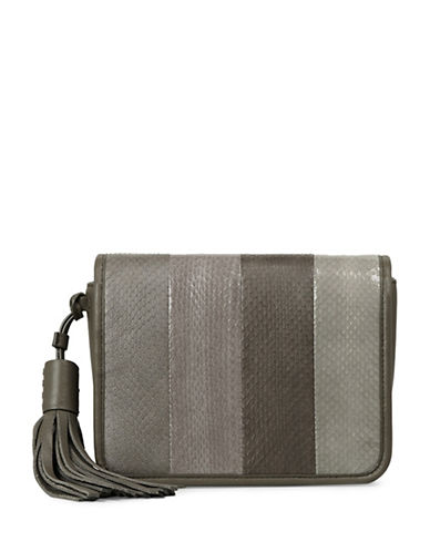 Allsaints Bansho Watersnake Leather Crossbody Bag-MINK GREY-One Size