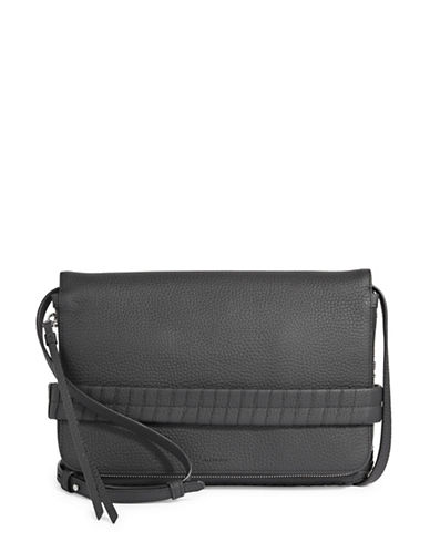 Allsaints Club Leather Clutch-BLACK-One Size