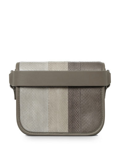 Allsaints Ikuya Leather Clutch-GREY-One Size