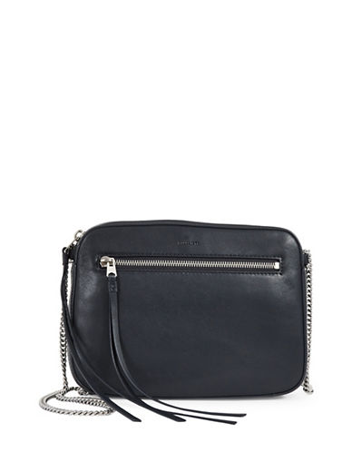 Allsaints Fleur De Lis Crossbody Bag-BLUE-One Size
