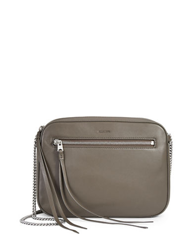 Allsaints Fleur De Lis Crossbody Bag-GREY-One Size