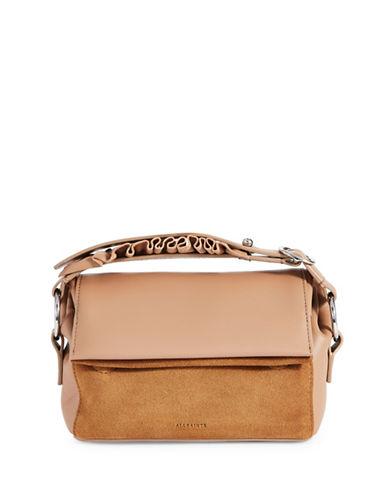 Allsaints Maya Soft Leather Clutch-CARAMEL-One Size