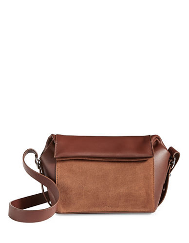Allsaints Maya Leather Crossbody-BROWN-One Size