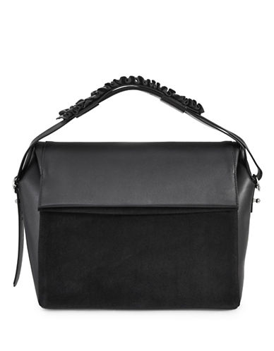 Allsaints Maya Leather Shoulder Bag-BLACK-One Size
