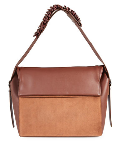 Allsaints Maya Leather Shoulder Bag-BROWN-One Size