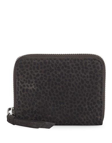 Allsaints Echo Suede Mini Wallet-GREY-One Size