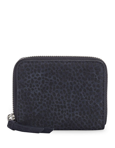 Allsaints Echo Suede Mini Wallet-BLACK-One Size