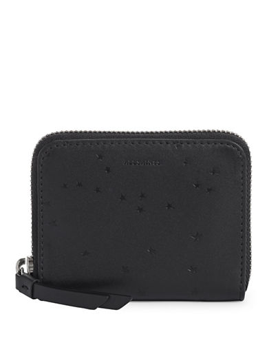 Allsaints Star Leather Mini Wallet-BLACK-One Size
