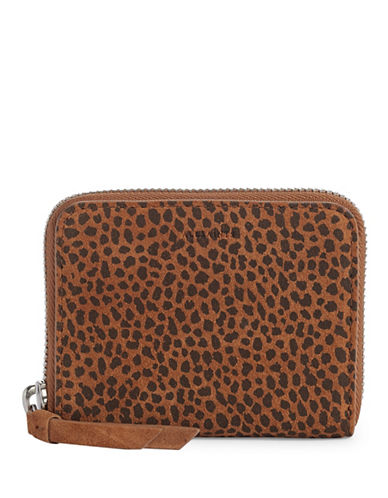 Allsaints Echo Suede Mini Wallet-CARAMEL-One Size