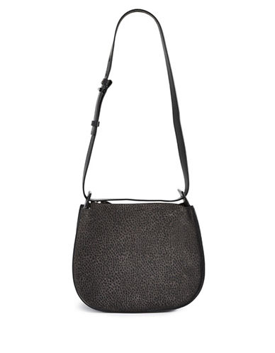 Allsaints Echo Mini Leather Hobo-GRAPHITE-One Size