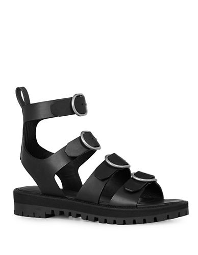 Allsaints Raquel Buckled Sandals-BLACK-EUR 38/US 8