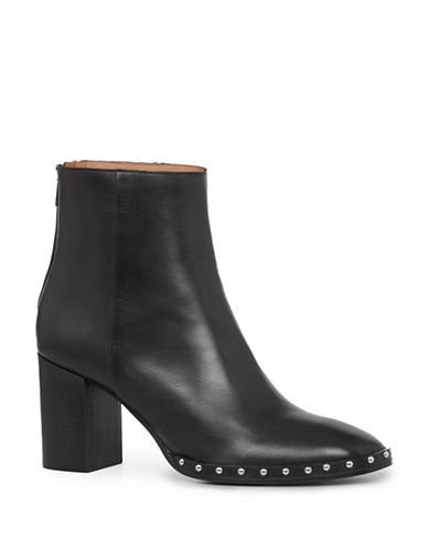 Allsaints Inez Leather Booties-BLACK-EUR 41/US 11