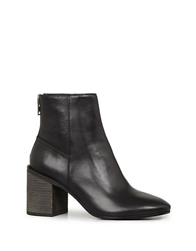 Allsaints Idella Leather Booties-BLACK-5