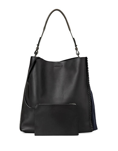 Allsaints Pearl Leather Hobo-BLUE-One Size
