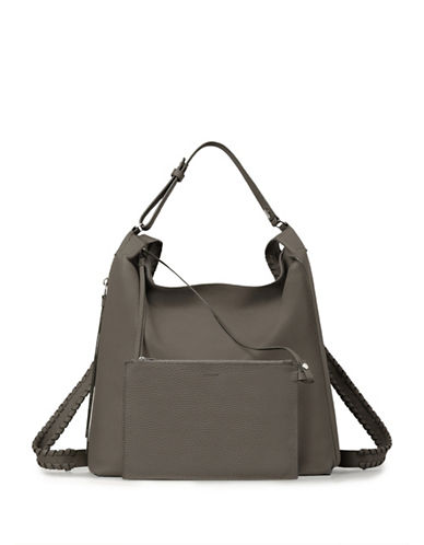 Allsaints Kita Leather Backpack-GREY-One Size