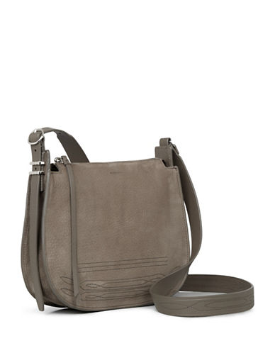 Allsaints Cooper Leather Crossbody Bag-GREY-One Size