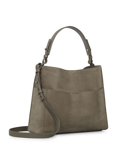 Allsaints Cooper Suede Tote-GREY-One Size
