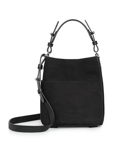 Allsaints Cooper Mini Leather Tote-BLACK-One Size