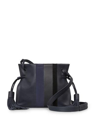 Allsaints Casey Leather Tassel Bag-BLUE-One Size