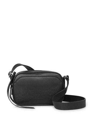 Allsaints Cooper Leather Camera Bag-BLACK-One Size