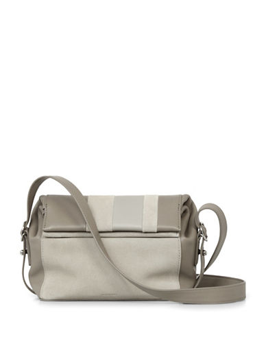Allsaints Casey Leather Crossbody Bag-GREY-One Size