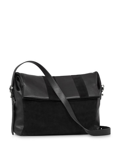 Allsaints Casey Leather Shoulder Bag-BLACK-One Size