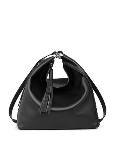 Allsaints Pearl Leather Backpack-BLACK-One Size