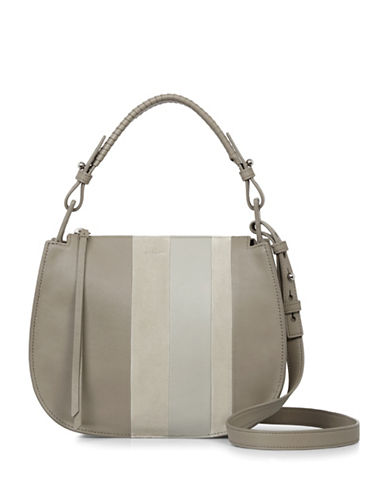 Allsaints Casey Leather Hobo Bag-GREY-One Size