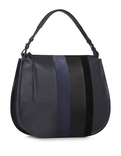 Allsaints Casey Leather Hobo Bag-BLUE-One Size