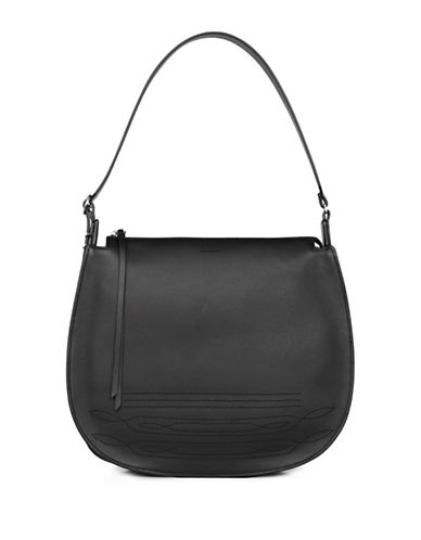 Allsaints Cooper Leather Hobo Bag-BLACK-One Size
