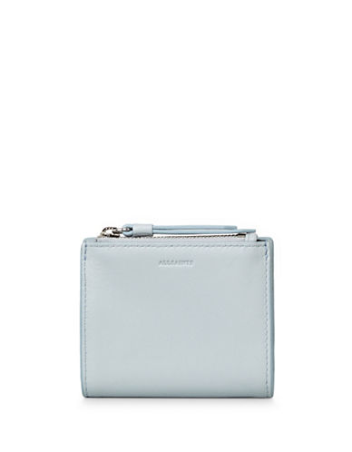 Allsaints Kanda Leather Wallet-BABY BLUE-One Size