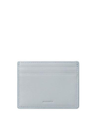 Allsaints Kanda Leather Cardholder-BABY BLUE-One Size