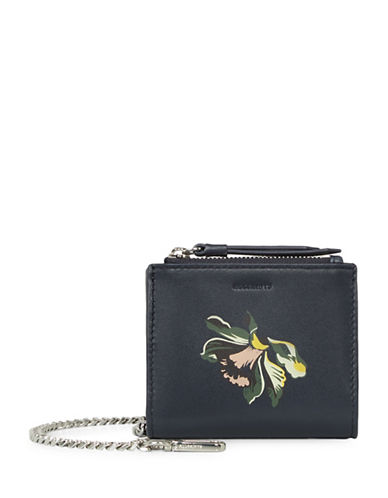 Allsaints Flora Leather Wallet-BLUE-One Size