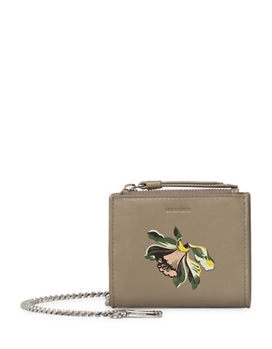 Allsaints Flora Leather Wallet-GREY-One Size