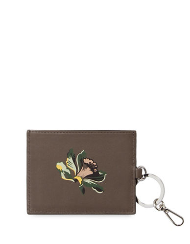 Allsaints Flora Leather Card Holder-GREY-One Size