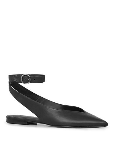 Allsaints Cory Leather Flats-BLACK-5