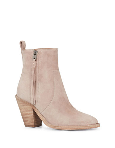 Allsaints Lorna Suede Booties-SEPIA PINK-5