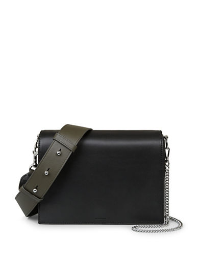 Allsaints Spacious Leather Box Bag-BLACK-One Size