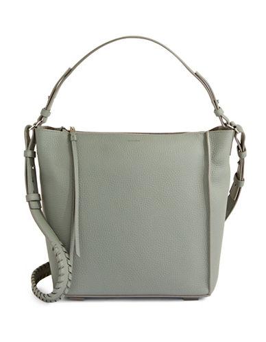 Allsaints Kita Leather Shoulder Bag-SLATE BLUE-One Size