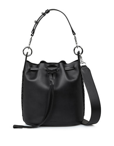 Allsaints Ray Leather Bucket Bag-BLACK-One Size